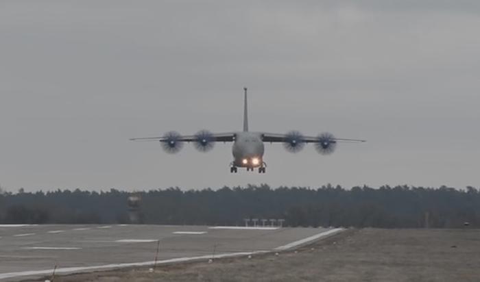Ан-70 посадка