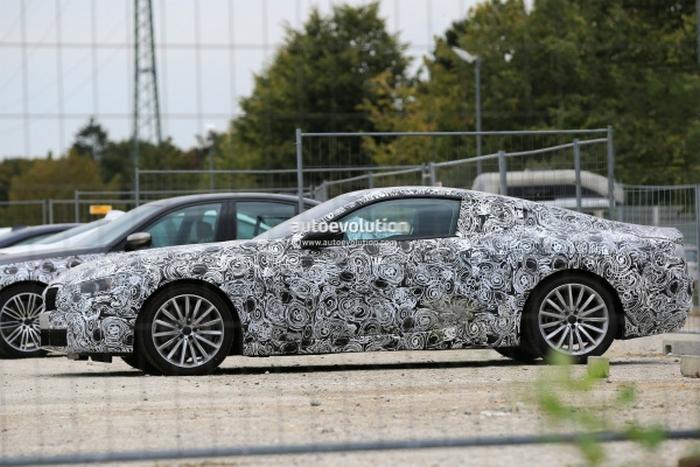 BMW 8 Series на тестах