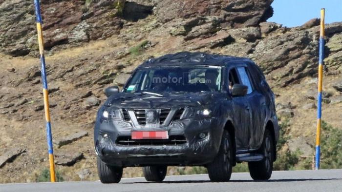 Nissan Navara на тестах