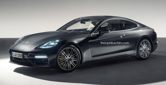 рендер купе Porsche Panamera