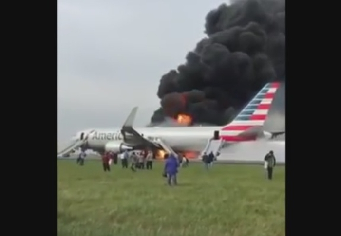 пожежа літак