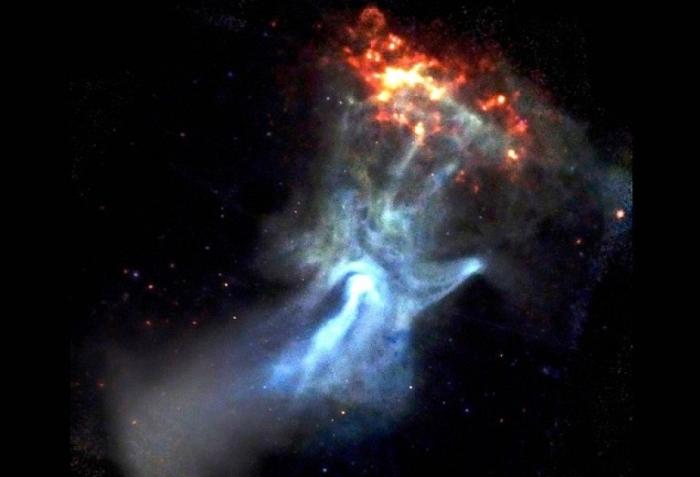рука бога космос