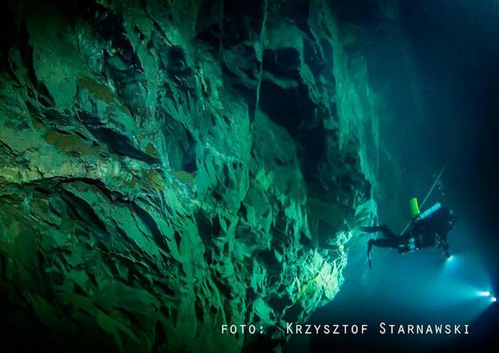 найглибша підводна печера чехія