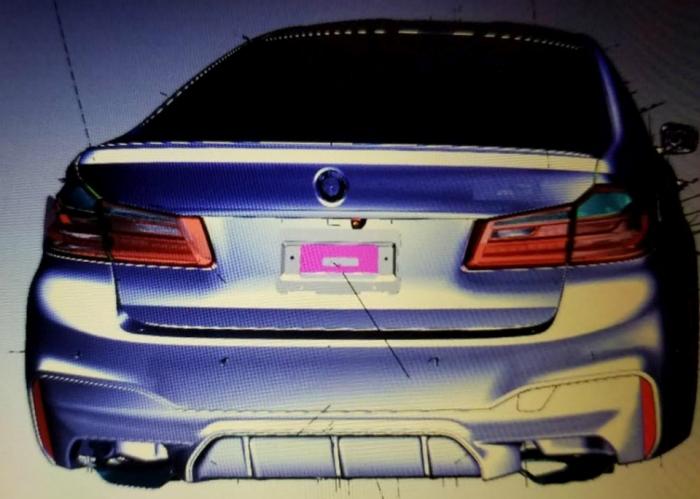 рендер BMW M5 2017