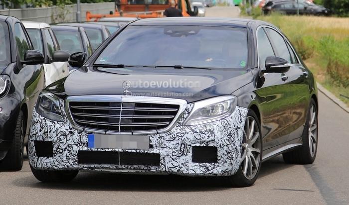 Mercedes-AMG S63 на тестах