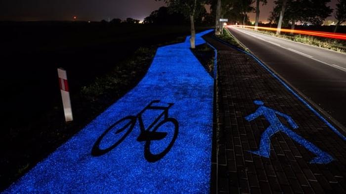 велодоріжка яка світиться польша