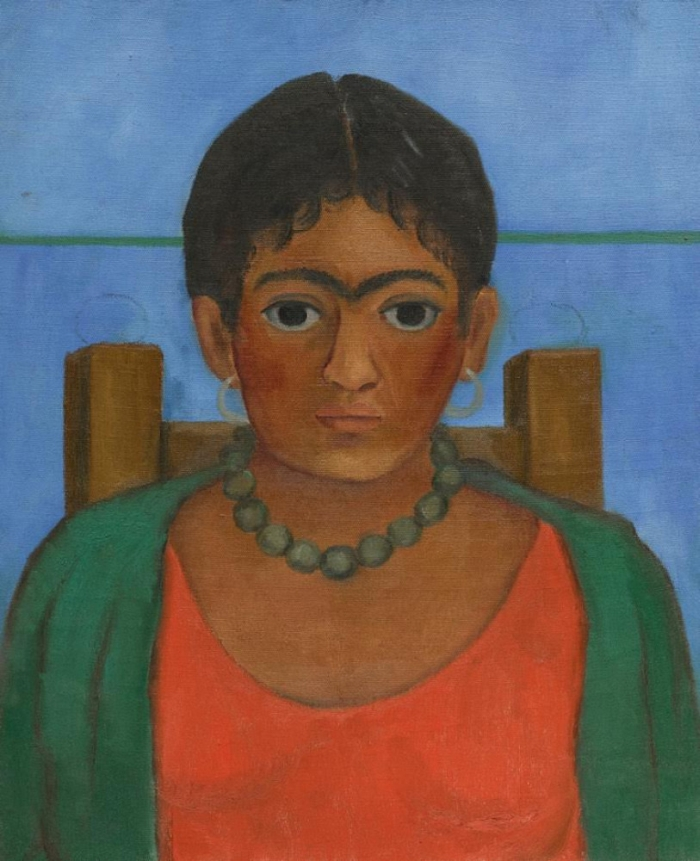 картина Фріди Кало дівчина з намистом