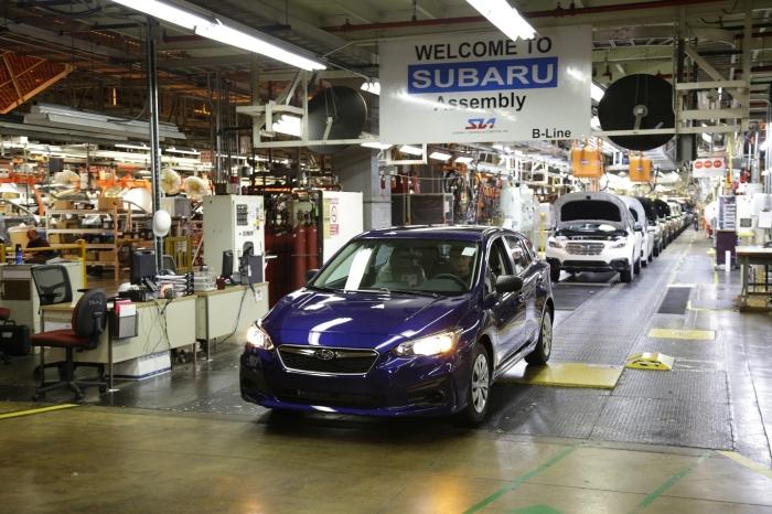 Subaru Impreza на конвеєрі