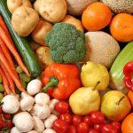 свіжі овочі та фрукти