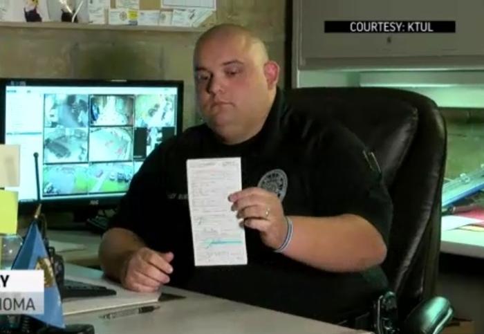 В США поліцейський оштрафував сам себе за перевищення швидкості