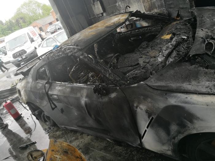 RB Motorsport пожежа