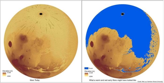 марс океан