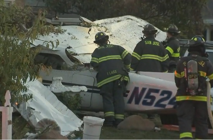 Cessna-172 впав на житловий будинок