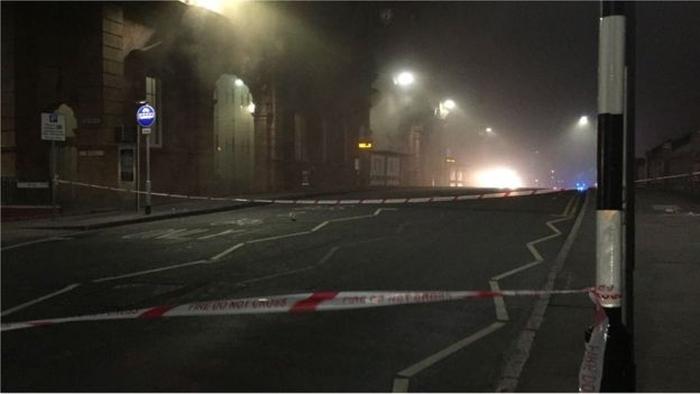 Пожежа на вокзалі у Ноттінгемі