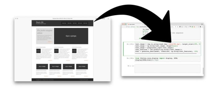 створити сайт за допомогою скріншотів