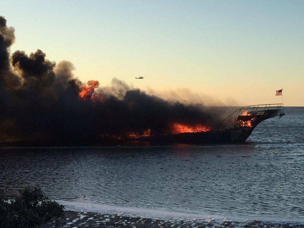 пожежа на кораблі-казино біля флориди