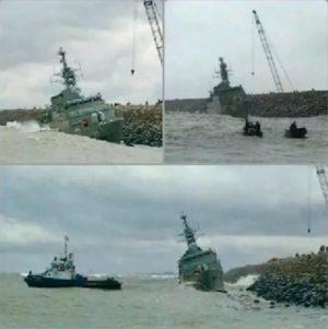 Військовий корабель ВМС Ірану розламався на дві частини