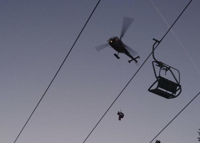 знімали вертольотом з підйомника