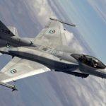 над японією загорівся винищувач F-16 ВПС США