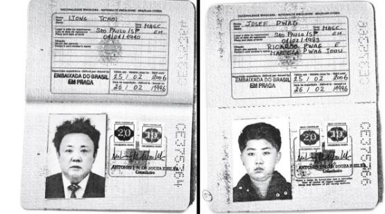 Кім Чен Ин і Кім Чен Ір паспорти