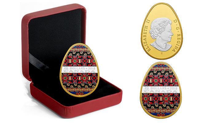 монета формі української писанки