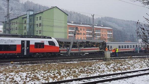 в австрії зіткнулись два потяги