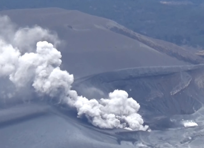 сильне виверження вулкана японія