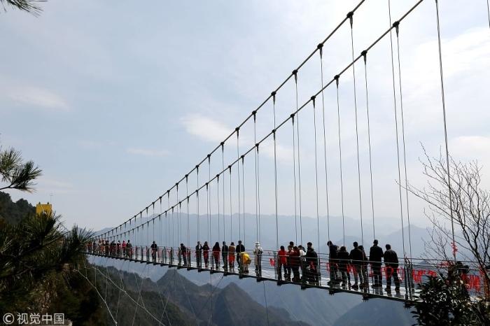 найвищий скляний міст китай