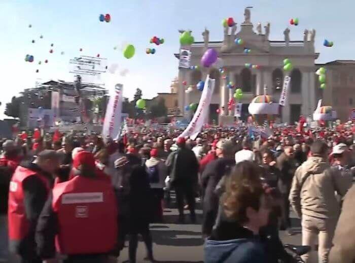 протести Рим