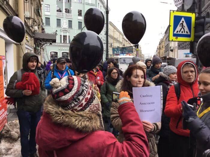 Марші материнського гніву на Невському проспекті