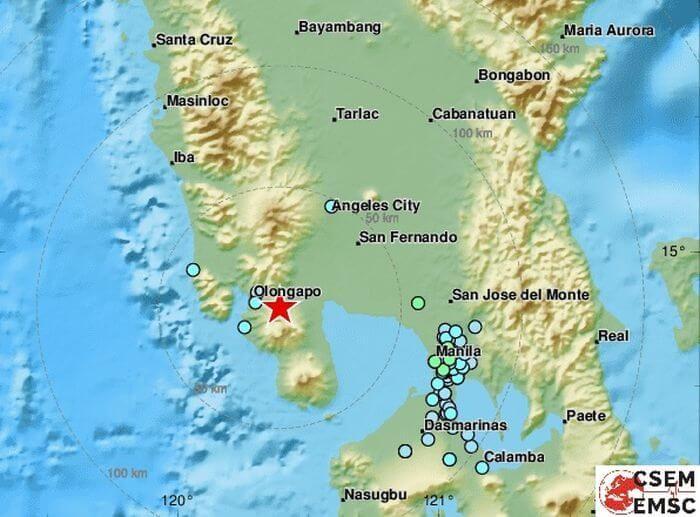 на Філіппінах землетрус