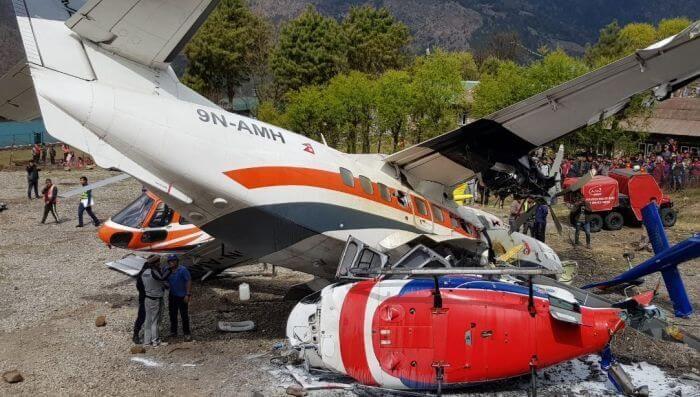 зіткнення літака і вертольота в Непалі