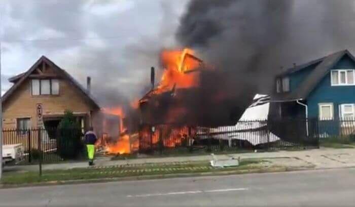літак впав на будинок Чилі