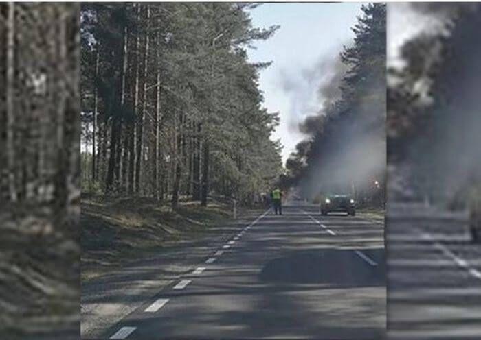 Армійська вантажівка США загорілася в Польщі