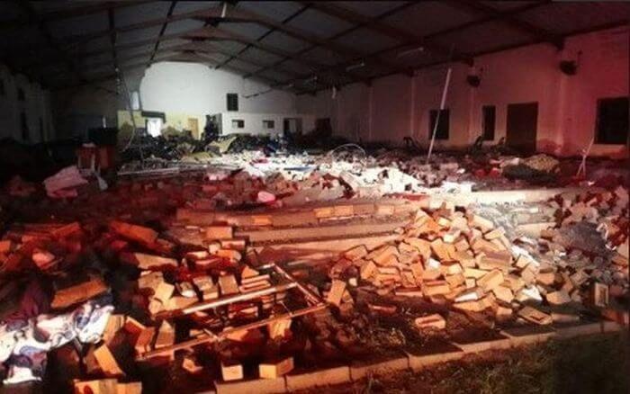 обвалення церкви ПАР