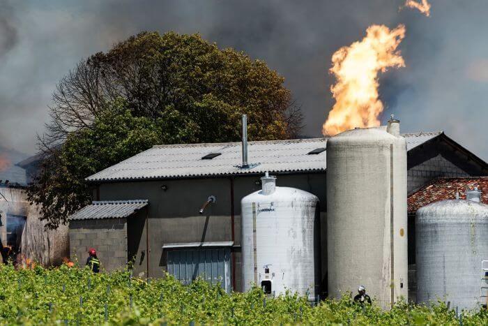 пожежа на виноробні у Шарант Франція