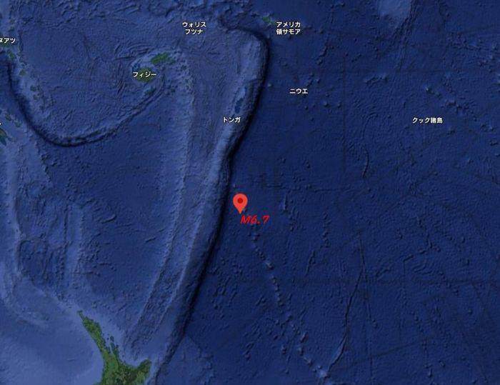 землетрус в океані